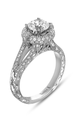Vanna K Hand Engraved Engagement Ring 18RGL0214DCZ product image