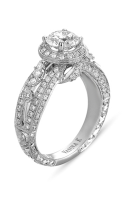 Vanna K Hand Engraved Engagement Ring 18RGL00271DCZ product image