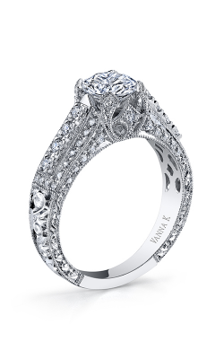 Vanna K Hand Engraved Engagement Ring 18RGL810DCZ product image