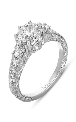 Vanna K Hand Engraved Engagement Ring 18RGL00326DCZ product image