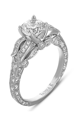 Vanna K Hand Engraved Engagement Ring 18RGL00340DCZ product image