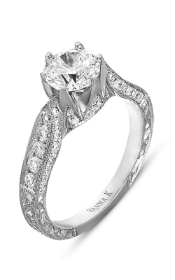 Vanna K Hand Engraved Engagement Ring 18RGL00346DCZ product image