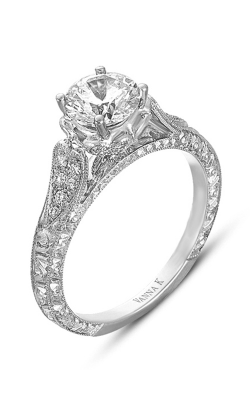 Vanna K Hand Engraved Engagement Ring 18RGL00349DCZ product image