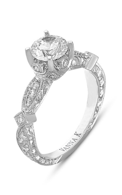Vanna K Hand Engraved Engagement Ring 18RGL00358DCZ product image