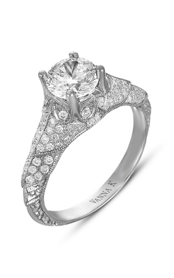 Vanna K Hand Engraved Engagement Ring 18RGL00362DCZ product image