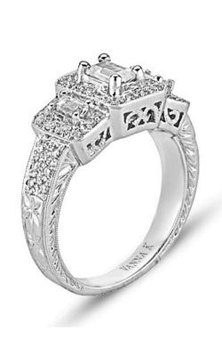 Vanna K Hand Engraved Engagement ring 18MR3861EDCZ product image