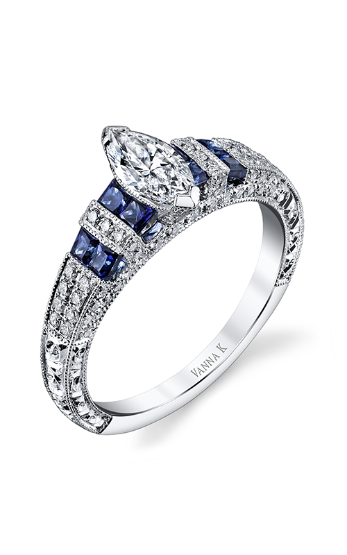 Vanna K Hand Engraved Engagement ring 18RGL00215SDCZ product image