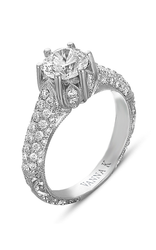 Vanna K Hand Engraved Engagement ring 18RGL00345DCZ product image