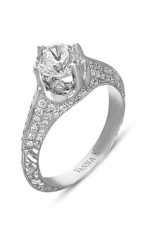 Vanna K Hand Engraved Engagement ring 18RGL00347DCZ product image