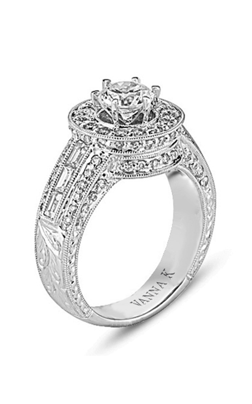 Vanna K Hand Engraved Engagement ring 18RO4841DCZ product image