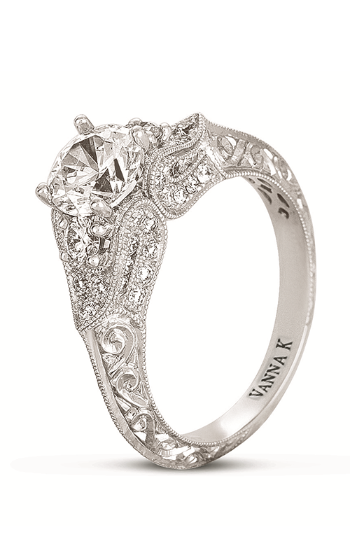 Vanna K Hand Engraved Engagement ring 18RGL00386DCZ product image