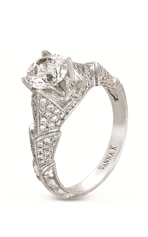 Vanna K Hand Engraved Engagement ring 18RGL00385DCZ product image
