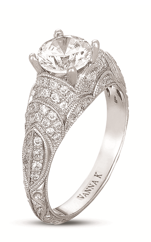 Vanna K Hand Engraved Engagement ring 18RGL408DCZ product image