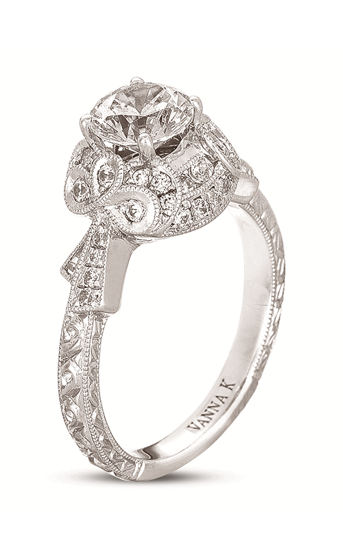 Vanna K Hand Engraved Engagement ring 18RGL00342DCZ product image