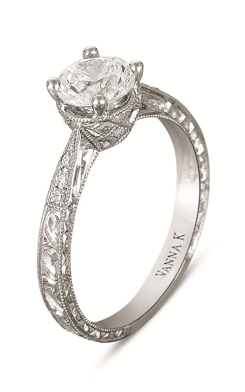 Vanna K Hand Engraved Engagement ring 18RGL00180DCZ product image