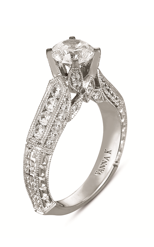 Vanna K Hand Engraved Engagement ring 18RGL00074DCZ product image
