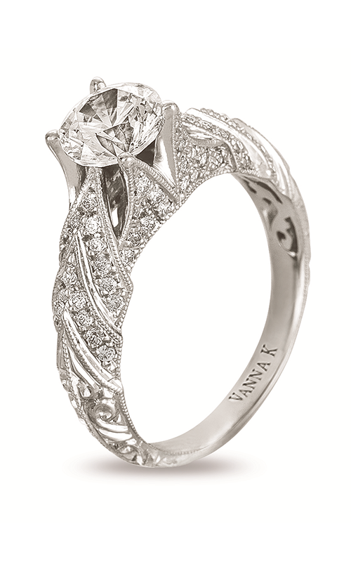 Vanna K Hand Engraved Engagement ring 18RGL00382DCZ product image
