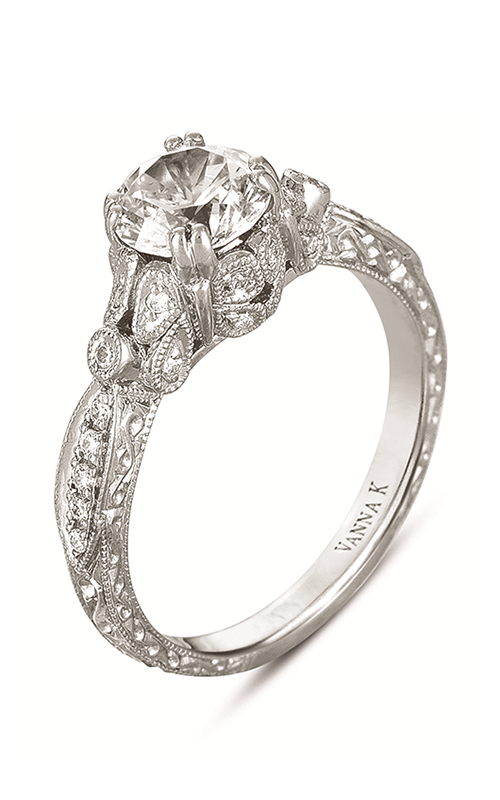 Vanna K Hand Engraved Engagement ring 18RGL00411DCZ product image