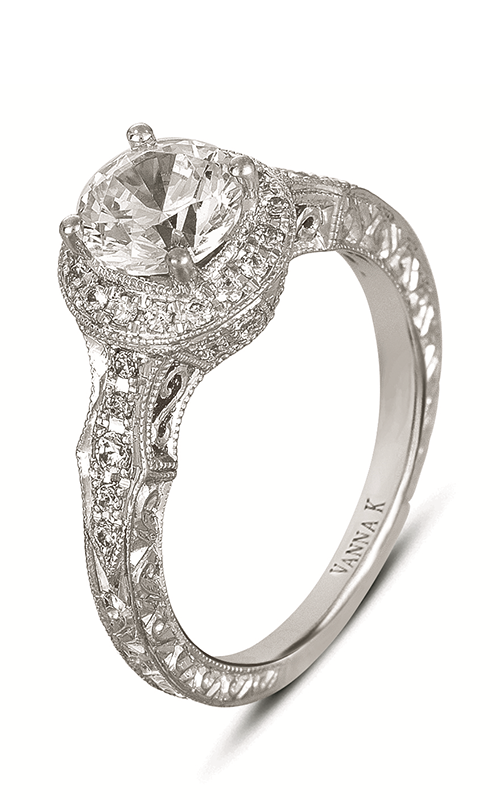 Vanna K Hand Engraved Engagement ring 18RGL00432DCZ product image