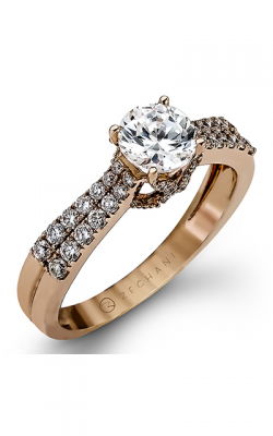 Zeghani Delicate Diva Engagement ring ZR972 product image
