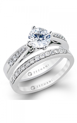 Zeghani Delicate Diva Engagement Ring ZR204 product image