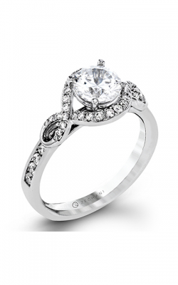 Zeghani Delicate Diva Engagement ring ZR1392 product image