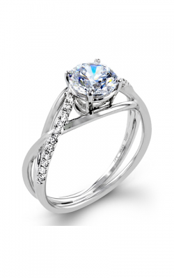 Zeghani Delicate Diva Engagement Ring ZR1378 product image
