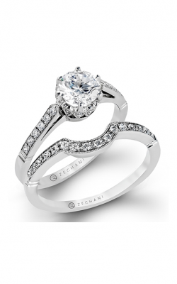 Zeghani Delicate Diva Engagement Ring ZR136 product image