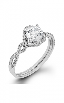 Zeghani Delicate Diva Engagement Ring ZR1358 product image