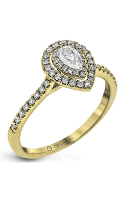 Zeghani Delicate Diva Engagement ring ZR1870-Y product image