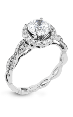 Zeghani Delicate Diva Engagement ring ZR1466 product image