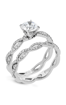 Zeghani Delicate Diva Engagement Ring ZR1449 product image