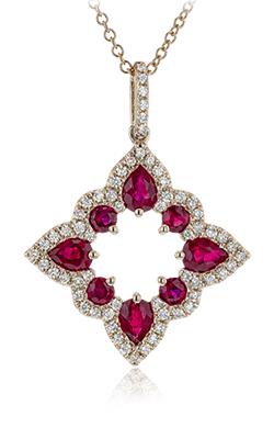 Zeghani Vintage Vixen Necklace ZP921-R product image