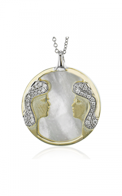 Zeghani Zodiac Signs Constellation Necklace Gemini-y product image