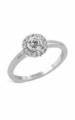 Zeghani The Halo Crown Engagement ring Ngr107 product image