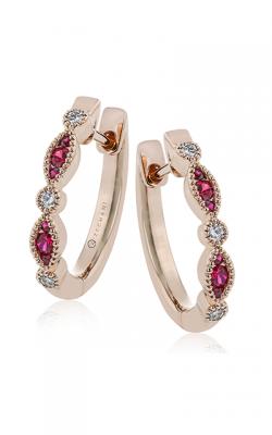 Zeghani Precious Stone Earrings Ze720-r product image