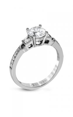 Zeghani Three Stone Trinity Engagement ring Zr1473 product image