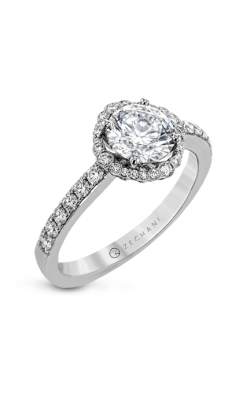 Zeghani The Flower Crown Halo Engagement ring Zr1777 product image