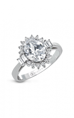 Zeghani Halo Crown Engagement ring Zr2038 product image