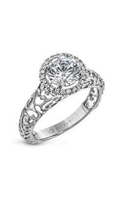 Zeghani The Halo Crown Engagement ring Zr2104 product image