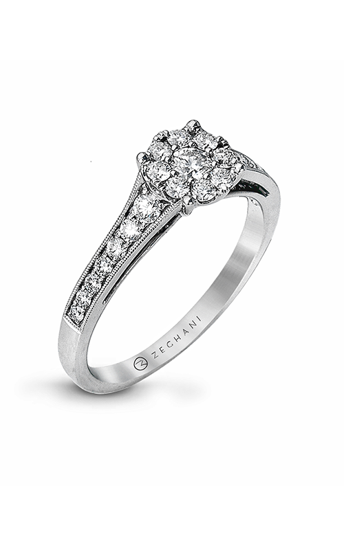 Zeghani Delicate Diva Engagement ring ZR827 product image