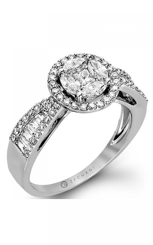 Zeghani Blindingly Beautiful Engagement ring ZR799 product image