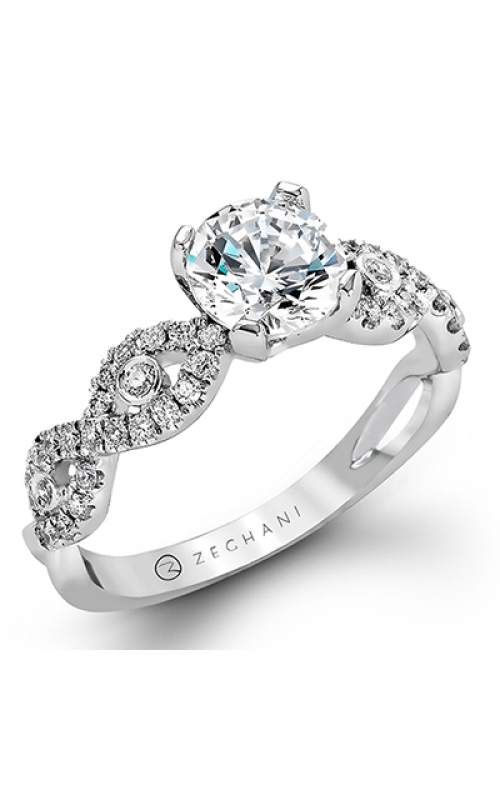 Zeghani Delicate Diva Engagement ring ZR737 product image
