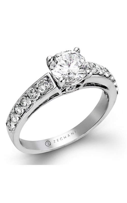 Zeghani Delicate Diva Engagement ring ZR419 product image