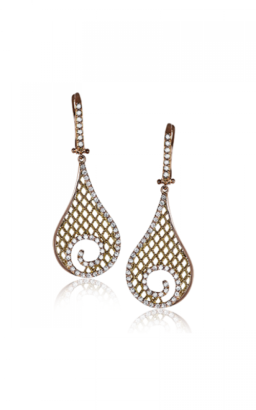 Zeghani Refined Rebel Earrings ZE524 product image