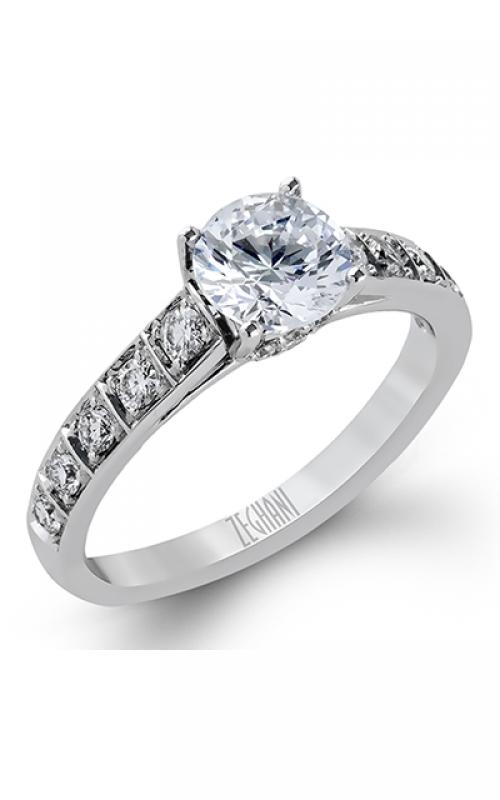 Zeghani Blindingly Beautiful Engagement ring ZR344 product image