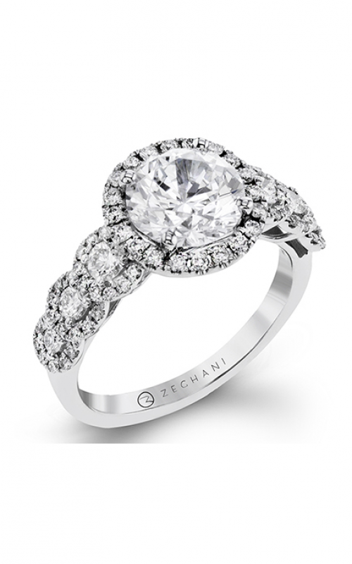 Zeghani Delicate Diva Engagement ring ZR1494 product image