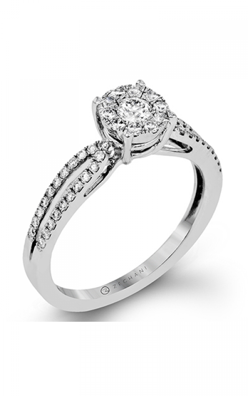 Zeghani Delicate Diva Engagement ring ZR1394 product image