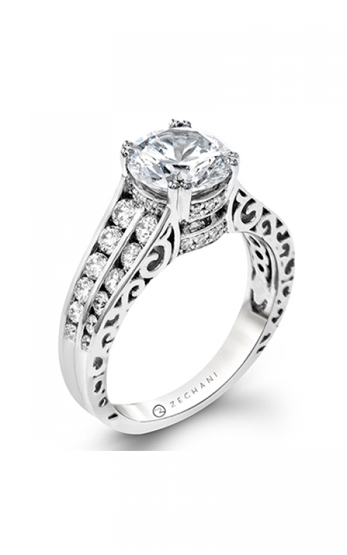 Zeghani Blindingly Beautiful Engagement ring ZR1387 product image