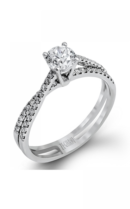 Zeghani Delicate Diva Engagement ring ZR1106 product image